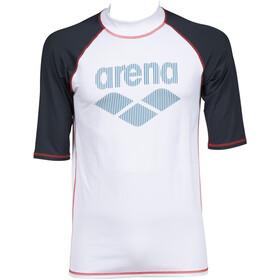 arena Rash SS UV Vest Men, white/ash grey